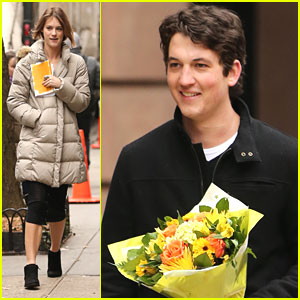 Miles Teller: Flowers For Mackenzie Davis
