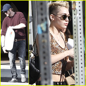 Miley Cyrus & Liam Hemsworth: Surfboard Shopping Sweeties