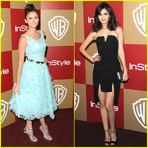 Nina Dobrev & Victoria Justice: InStyle Golden Globe Party Pair