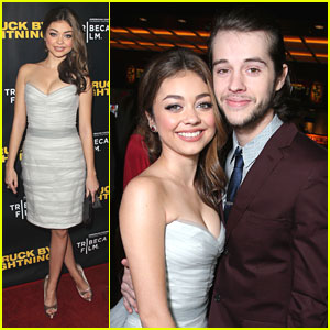 Sarah Hyland & Matt Prokop: 'Struck By Lightning' Premiere Pair