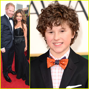 Sarah Hyland: Golden Globe Awards 2013 with Nolan Gould