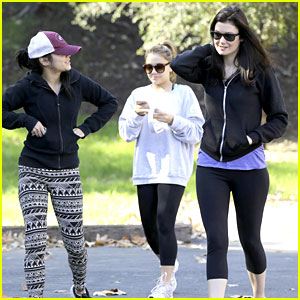 Vanessa Hudgens Hikes with Gal Pal & Sister Stella