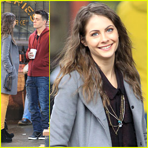Willa Holland & Colton Haynes: 'Arrow' Set on the Streets