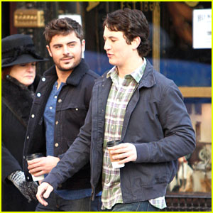 Zac Efron: Chatting On Set With Miles Teller