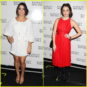 Aly Raisman & Chloe Bridges: Badgley Mischka Front Row!