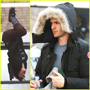 Andrew Garfield: 'Amazing Spider-Man 2' Set