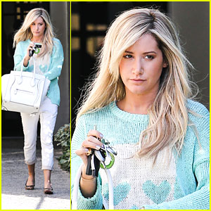 Ashley Tisdale: Andy Lecompte Salon Stop