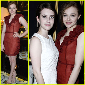 Chloe Moretz & Emma Roberts: H&M Fashion Show Friends!