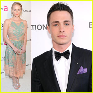 Leven Rambin &#038; Colton Haynes: Elton John AIDs Oscar Party 2013