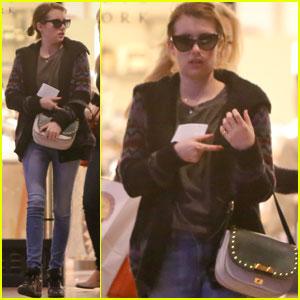Emma Roberts: Barneys Shopper!