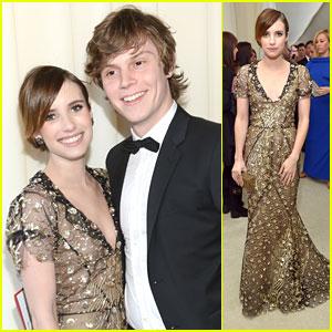 Emma Roberts & Evan Peters: Elton John Oscars Party Pair