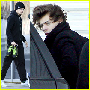 Liam Payne & Harry Styles: Recording Studio Mates!