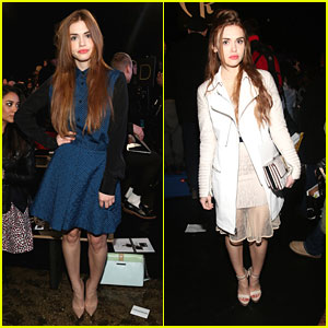 Holland Roden: DKNY & Charlotte Ronson Fashion Shows