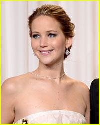 Jennifer Lawrence Trips at the Oscars