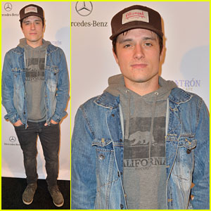 Josh Hutcherson: Lacoste/GQ Super Bowl Party