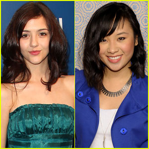 Katie Findlay & Ellen Wong: 'The Carrie Diaries' On-Set Interviews!