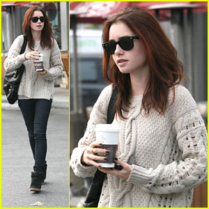 Lily Collins: Coffee Bean Break