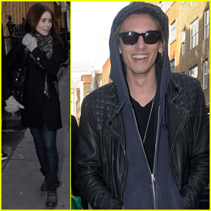 Lily Collins & Jamie Campbell Bower: London Couple!
