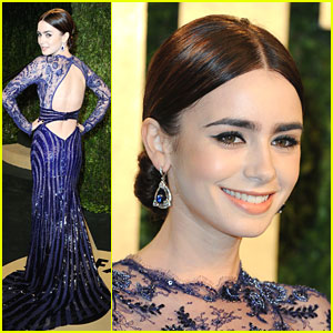 Lily Collins: Vanity Fair Oscar Party 2013