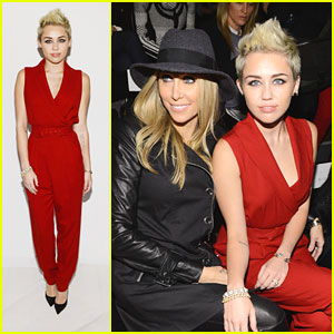 Miley Cyrus: Front Row for Rachel Zoe Show!