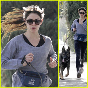 Nikki Reed Runs with Enzo
