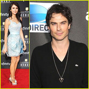 Ian Somerhalder & Nina Dobrev: Super Bowl Parties!