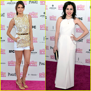 Nina Dobrev & Mae Whitman: Independent Spirit Awards 2013