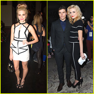Pixie Lott: London Fashion Week Kick Off with Oliver Cheshire