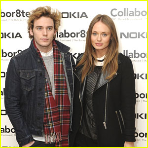 Sam Claflin Connects with 'Collabor8te' with Laura Haddock