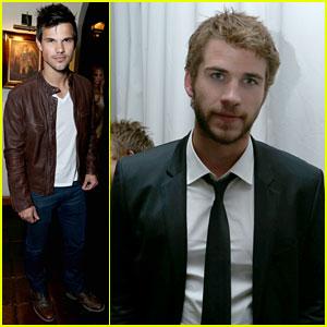 Taylor Lautner & Liam Hemsworth: Pre-Oscar Party Guys!
