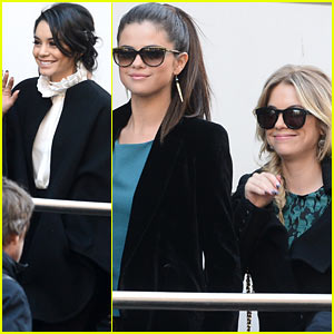 Vanessa Hudgens & Selena Gomez: 'Spring Breakers' Paris Radio Promo
