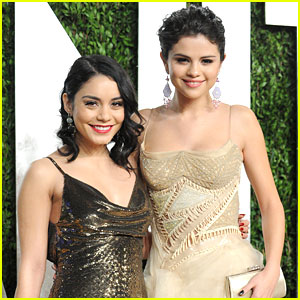Vanessa Hudgens & Selena Gomez: Vanity Fair Oscars Party 2013