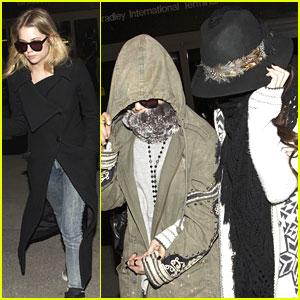 Vanessa Hudgens: LAX Arrival with Selena Gomez & Ashley Benson
