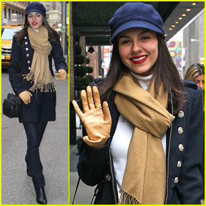 Victoria Justice: Bundled Up in NYC!