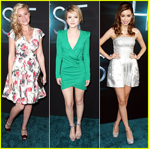 AJ Michalka: 'The Host' Premiere with Christian Serratos & Taylor Spreitler