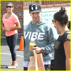 Aly Raisman & Mark Ballas: More 'Dancing' Practice