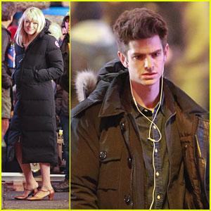 Emma Stone & Andrew Garfield: 'Spider-Man' Filming in Chinatown