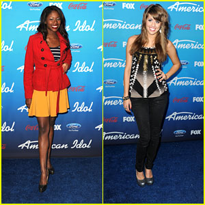 Angie Miller & Amber Holcomb: 'American Idol' Top 10 Finalists Party