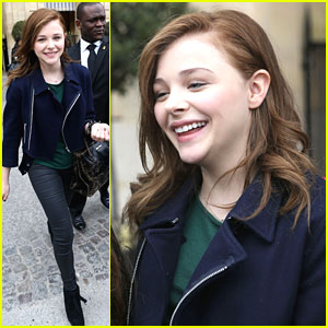 Chloe Moretz: Fan Friendly in France
