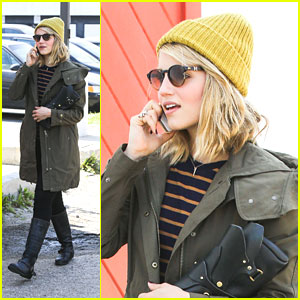 Dianna Agron: Kate Somerville Spa Stop