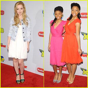 Dove Cameron: Disney Upfronts with Chloe & Halle Bailey
