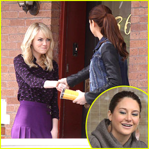 Emma Stone & Shailene Woodley: 'Spider-Man 2' Meet Up
