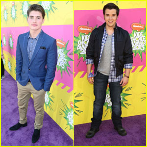 Nathan Kress & Gregg Sulkin - Kids' Choice Awards 2013 Red Carpet