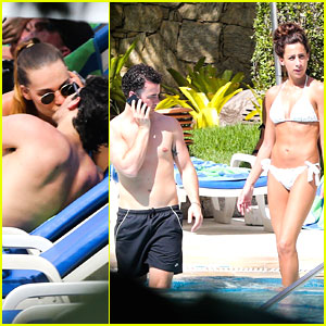 Kevin & Danielle Jonas: Rio Pool with Joe and Blanda!