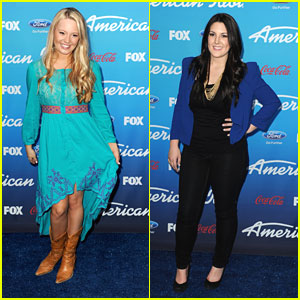 Janelle Arthur & Kree Harrison: 'American Idol' Top 10 Finalists Party