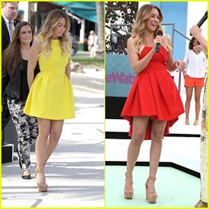 Lauren Conrad: Red & Yellow Dresses for 24-Hour Runway Show