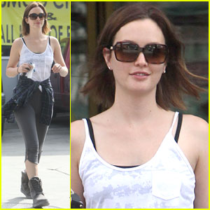 Leighton Meester: Post-Yoga Pit Stop!