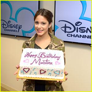 Martina Stoessel Celebrates Birthday at Disney!
