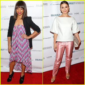 Monique Coleman & Olesya Rulin: 'Family Weekend' Premiere