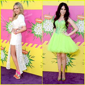 Ryan Newman & Gracie Dzienny - Kids' Choice Awards 2013 Red Carpet